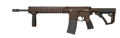 "Daniel Defense DDM4 - V5 Slick - 5.56 - 16"" - 10+1 - Brown Cerakote - Goodland Guns"