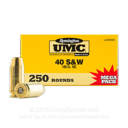 Remington UMC - .40S&W - 165 GR - FMJ - 250 Rds/box - Goodland Guns