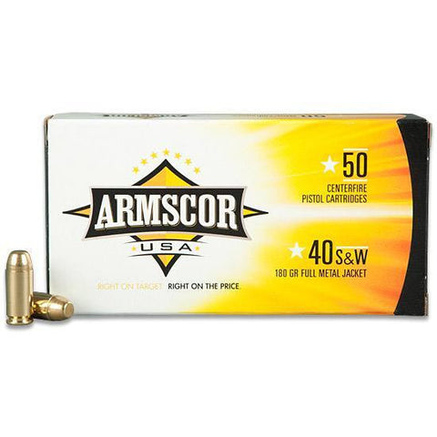 Armscor .40 S&W - 180 GR - FMJ - Goodland Guns