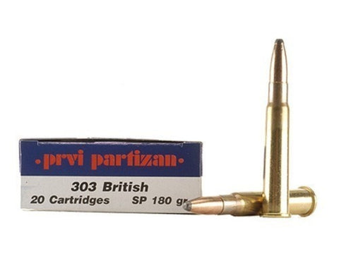 Prvi Partizan - .303 British - 180 Gr - SP - 20 Rds/box - Goodland Guns