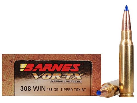 Barnes - .308 Win - 168 GR - VOR-TX - 20 Rds/box - Goodland Guns