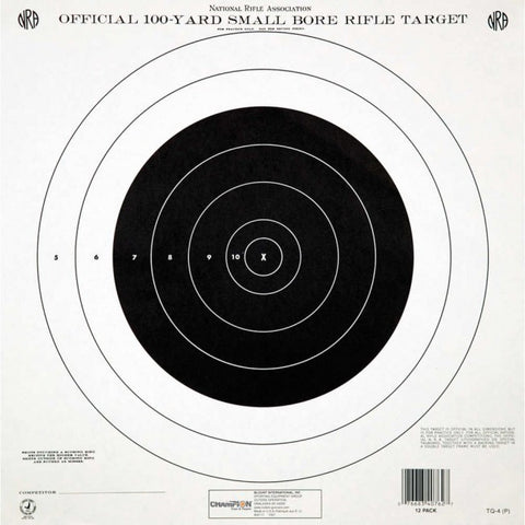 Champion NRA 100 Yd. Rifle Targets - Goodland Guns