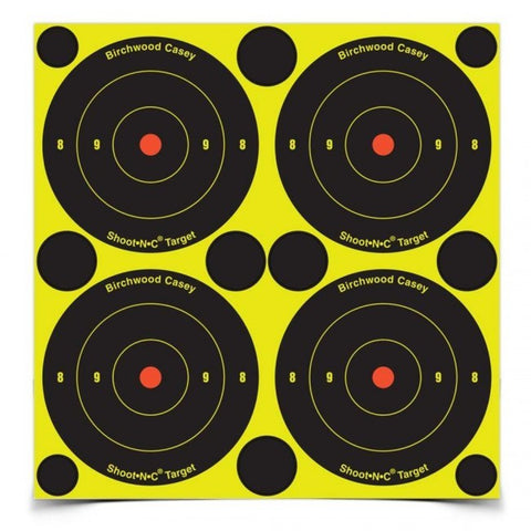 "Birchwood Casey Shoot-N-C 3"" Bull's Eye Pack - Goodland Guns"