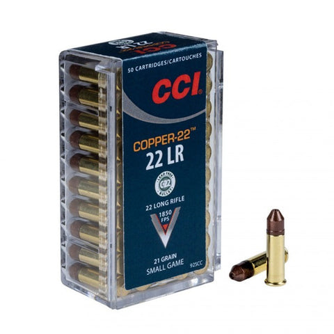 CCI Copper - 22 LR - 21 GR - 50 Rds/box