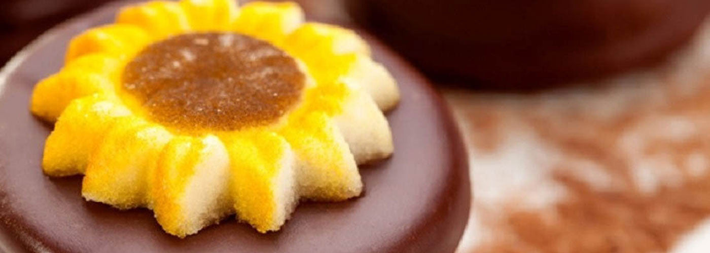 Sunflower chocolate cookie