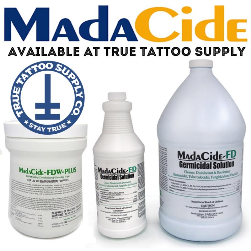 Madacide Wipes & Sprays at True Tattoo Supply