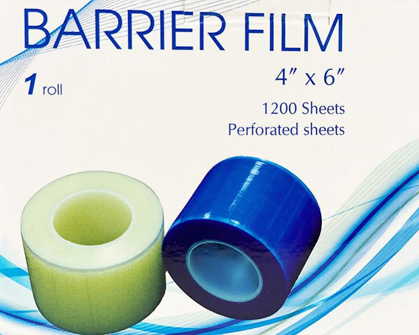 "Available at True Tattoo Supply.Surface Barrier Tattoo Film 1 - 4"" x6"" roll per box With dispenser stand 1200 Blue Sheets per roll Blue perforated sheets for easy setup for tattooing Barrier tattoo film is ideal for wrapping around your materials, this heavy-duty, disposable barrier film roll will make cleaning at the end of the session a breeze."