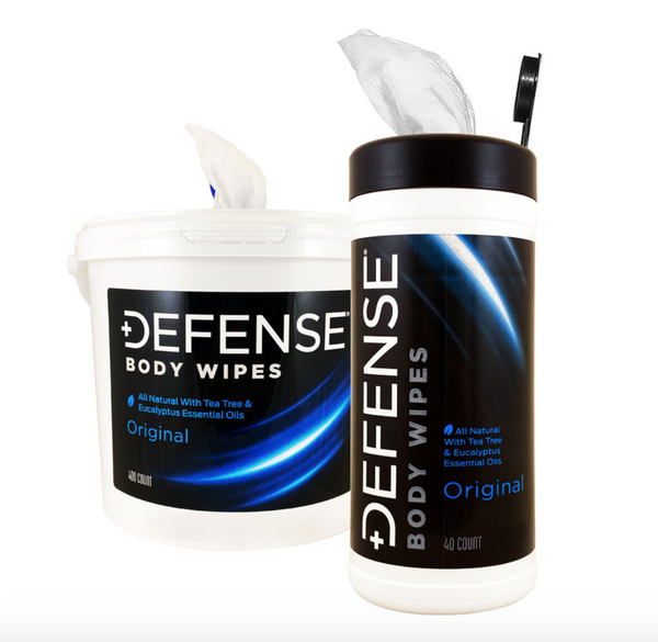 Available at True Tattoo Supply. Defense Original Body Wipes Defense Original Body Wipes are available NOW! The natural tea tree and eucalyptus oil in Defense body wipes provide a spectrum of antimicrobial, antiviral, fungicidal, antibacterial and other benefits and Defense Body Wipes also promote healthy skin.