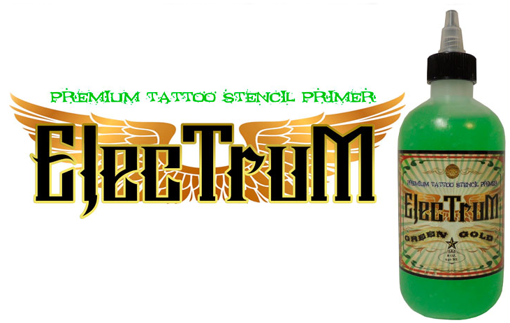 Available at True Tattoo Supply. Say goodbye to lost stencils forever! ELECTRUM Premium Tattoo Stencil Primer is the industry's leading stencil application product. A claim that's backed by consistent positive customer feedback and growing brand loyalty. ELECTRUM was developed by tattoo artists for tattoo artists, and is manufactured by tattoo artists.