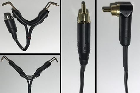 Available at True Tattoo Supply. RCA, Phono and Standard Clip Cords All True Tattoo Supply Power Cords are manufactured in the USA, using high quality American made products Options: Straight RCA or Angled RCA, Phono or Standard Clipcord Electrical wire has an abrasive resistant outer jacket and will not stick to clip cord sleeves.