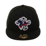 Exclusive New Era 59Fifty Philadelphia 76ers Benjamin Neon Hat - Black