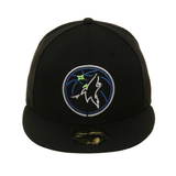 Exclusive New Era 59Fifty Minnesota Timberwolves Neon Hat - Black