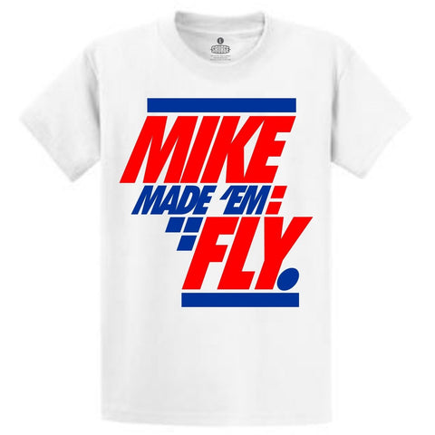 Savage Mike Made 'Em Fly True Blue 3's Tee