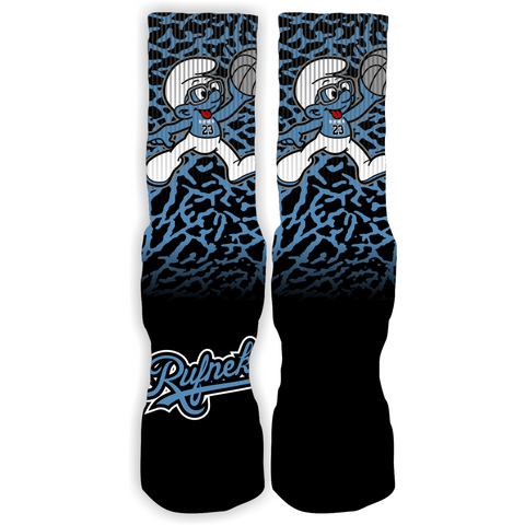 Rufnek Hardware Custom Air Smurf Powder Blue Socks