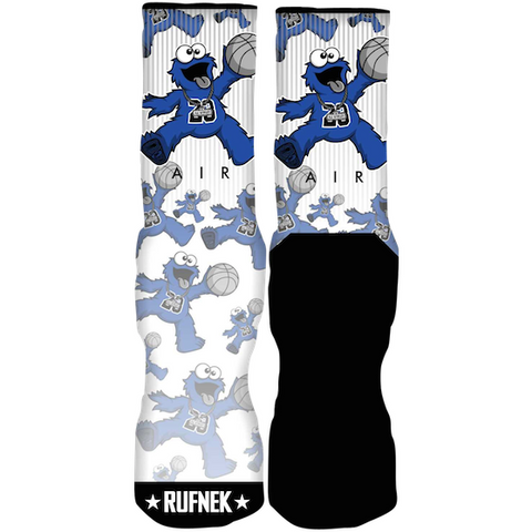 Rufnek Hardware Custom Air C Monster Sport Blue Socks