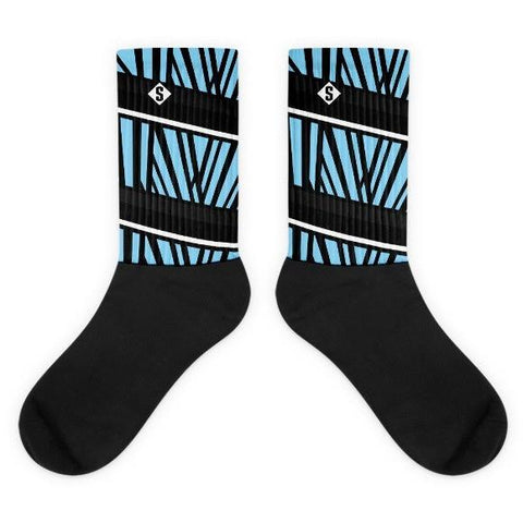 Savage Jungle Charlotte Blue Socks