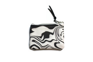 Retro Black White Cardholder