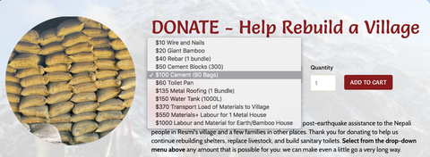 Online Donation Page