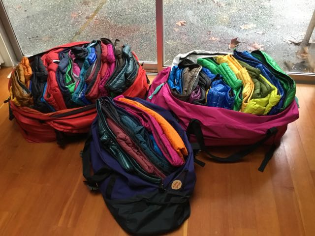 Jackets packed for donation