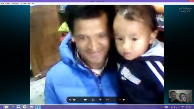 Kamal and Jasper in our 1-minutes on Skype!