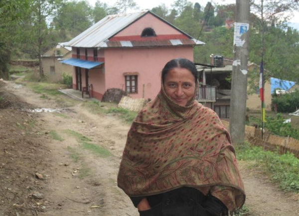 Pramila in her village