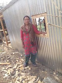 Pramila and new shelter