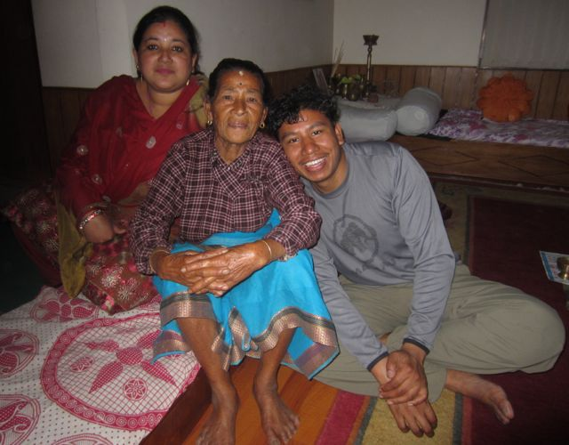Rajan, his wife and mother