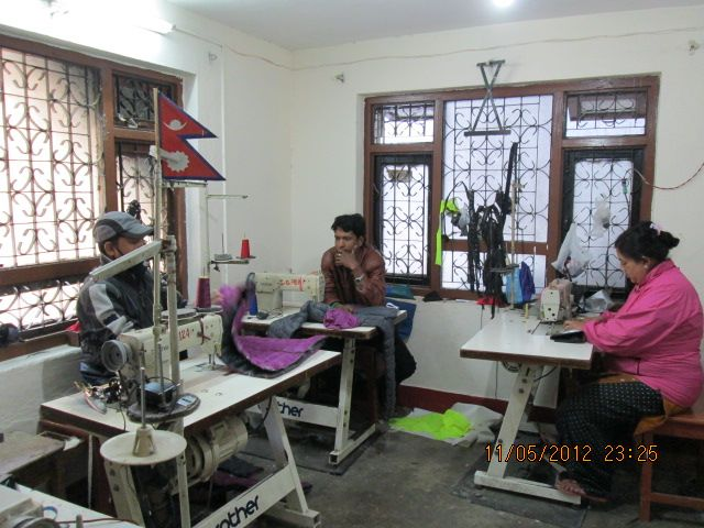 A photo of Rajan's factory, where Jackets for Jasper are made.  (Photo credit: Rajan Dulal).