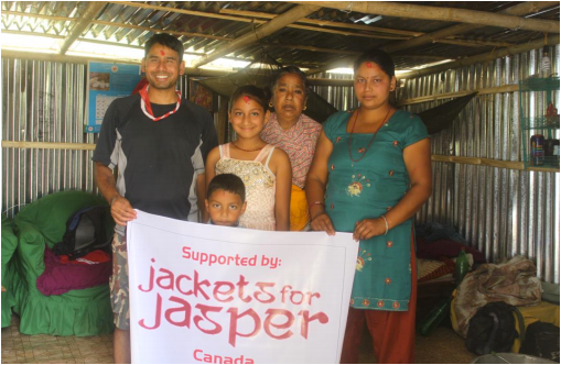 Ganesh Nepali and his Family in their New Home