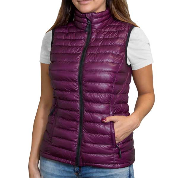 Women's Vest in Shiny Plum