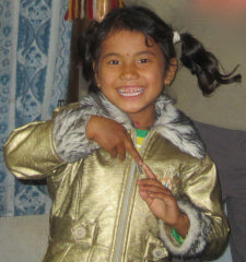 5-year-old Resmi dancing in her uncle's house