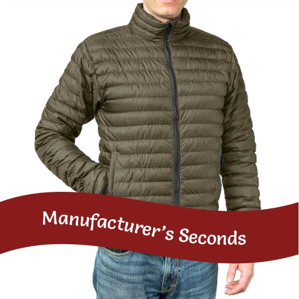 Men's Khaki down jacket
