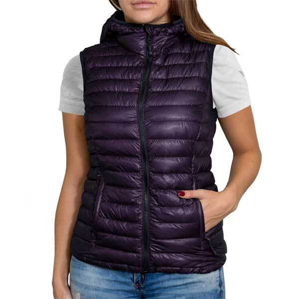 Shiny Royal Purple (Women's Vest Hoodie)