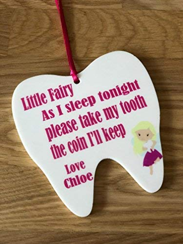 Print4you uk limited Acrylic tooth fairy personalised door hanger 10cm