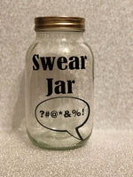 Glass jar money saving box fund gift - Swear jar fund comical funny