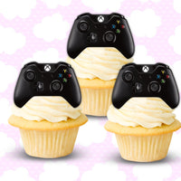 24 PRECUT xbox remote controllers cupcake fairy Cake Toppers 4cm On wafer rice paper