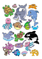 17under the sea creatures fish Cake Toppers On Icing