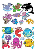 16 under the sea creatures fish Cake Toppers On Icing