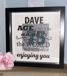 "Print4you uk limited Age is merely the number of years the world has been enjoying you personalised 10"" Box frame birthday present gift - 40th 50th 60th 70th 75th 80th 90th 100th birthday"