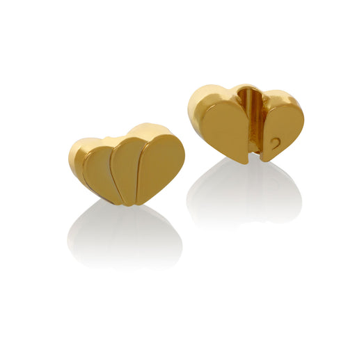 Tulip Heart Brappz Gold Charms