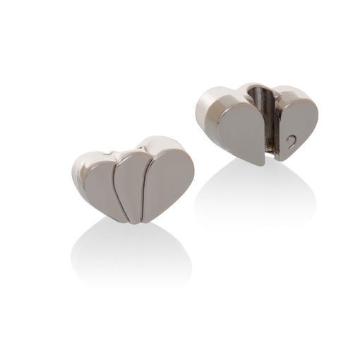 Tulip Heart Brappz Silver Charms