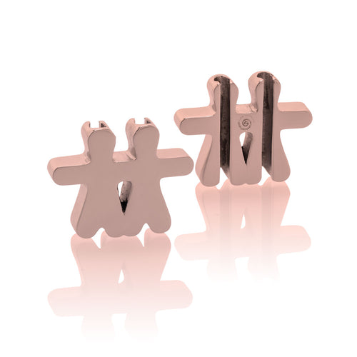 Large Charm 2 kids Jan&Oscar Effigy rose gold stainless steel Brappz SKU#7640174312856 brappz.com