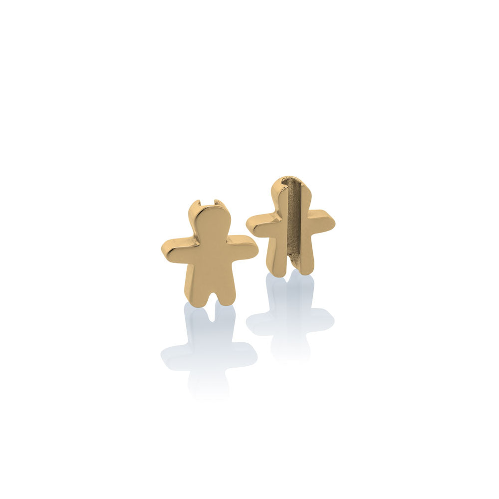 Charm school boy Jan & Oscar Effigy gold stainless steel Brappz SKU#7640174312900 brappz.com