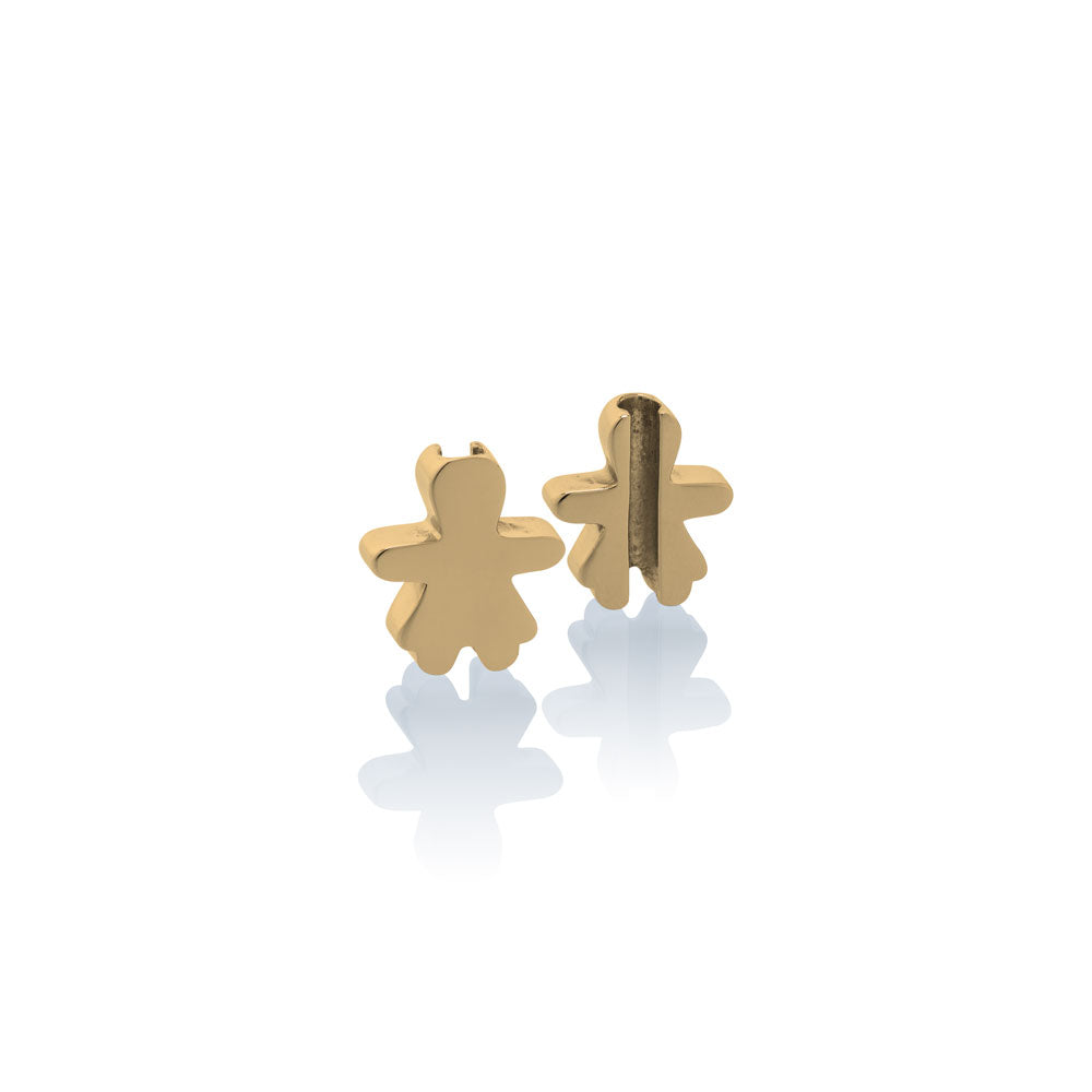 Charm school girl Jan & Oscar Effigy gold stainless steel Brappz SKU#7640174312870 brappz.com