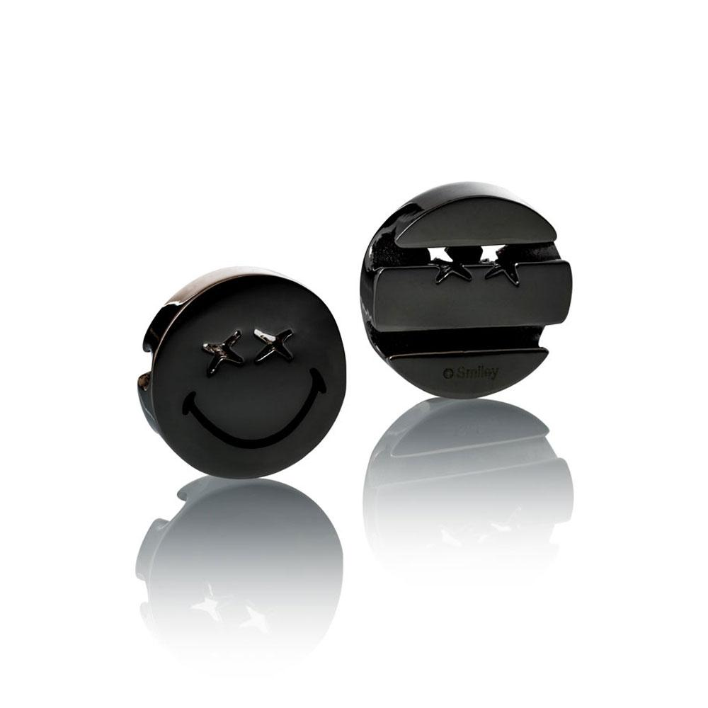 Smiley™ Charm black stainless steel xx eyes smile Brappz USA Canada SKU# 7640174311750  brappz.com