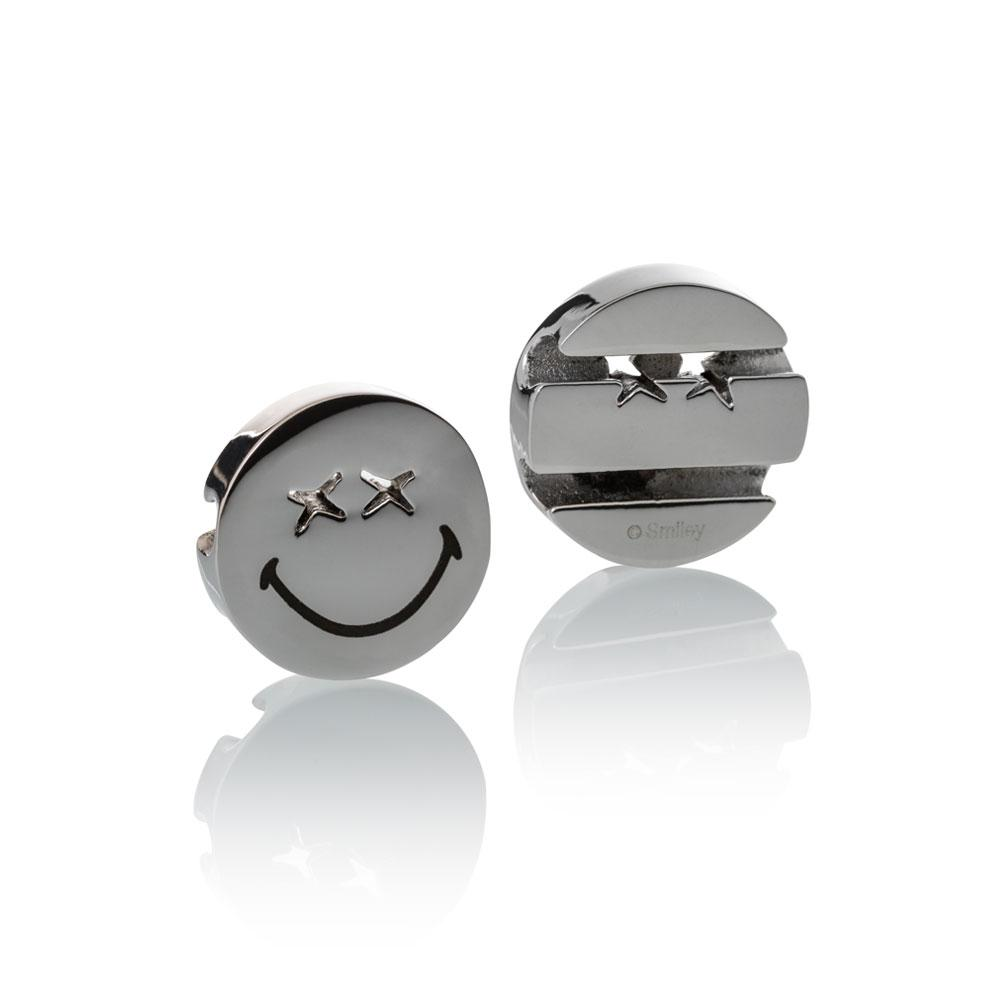 Smiley™ Charm silver stainless steel xx eyes smile Brappz USA Canada SKU# 7640174311767 brappz.com