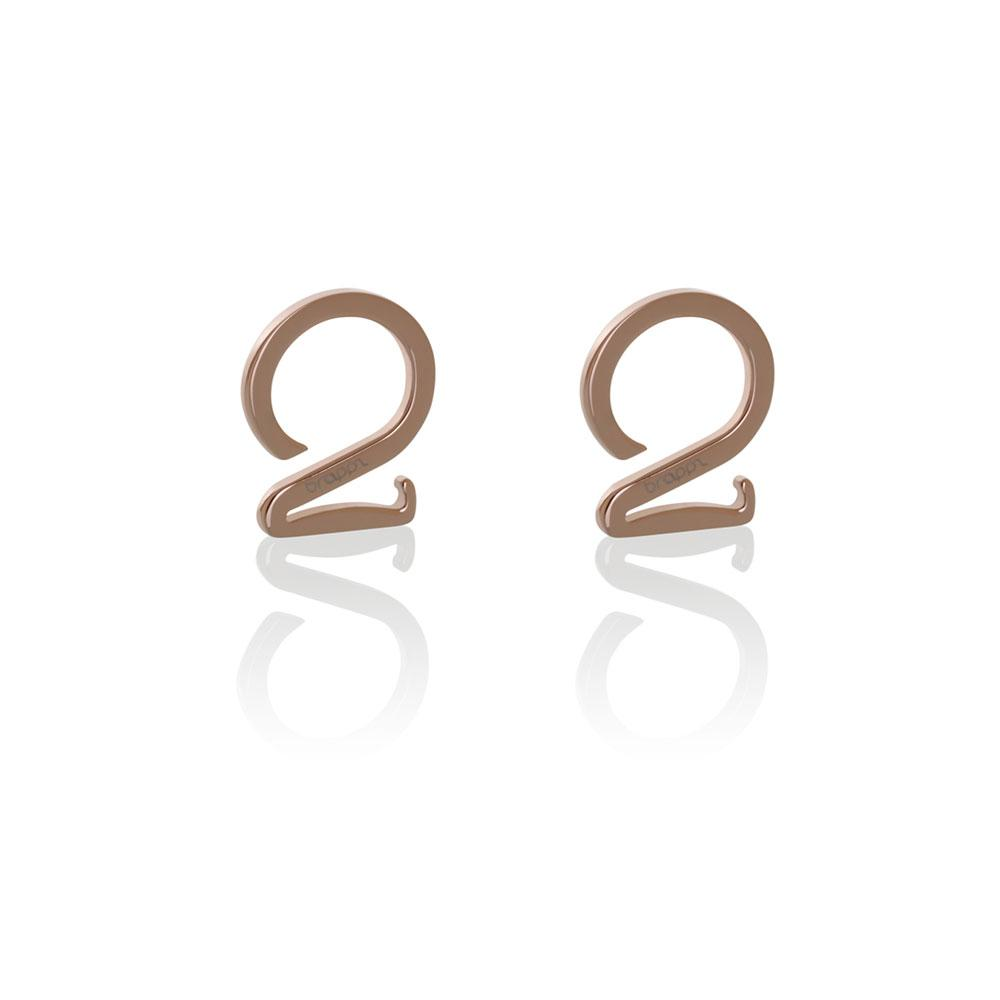 Stainless steel jewelry rose gold hook set Brappz SKU#7640174312160 brappz.com