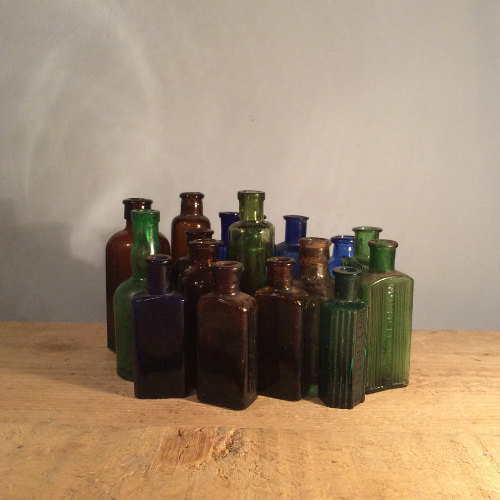 Vintage Medium Coloured Glass Bottles