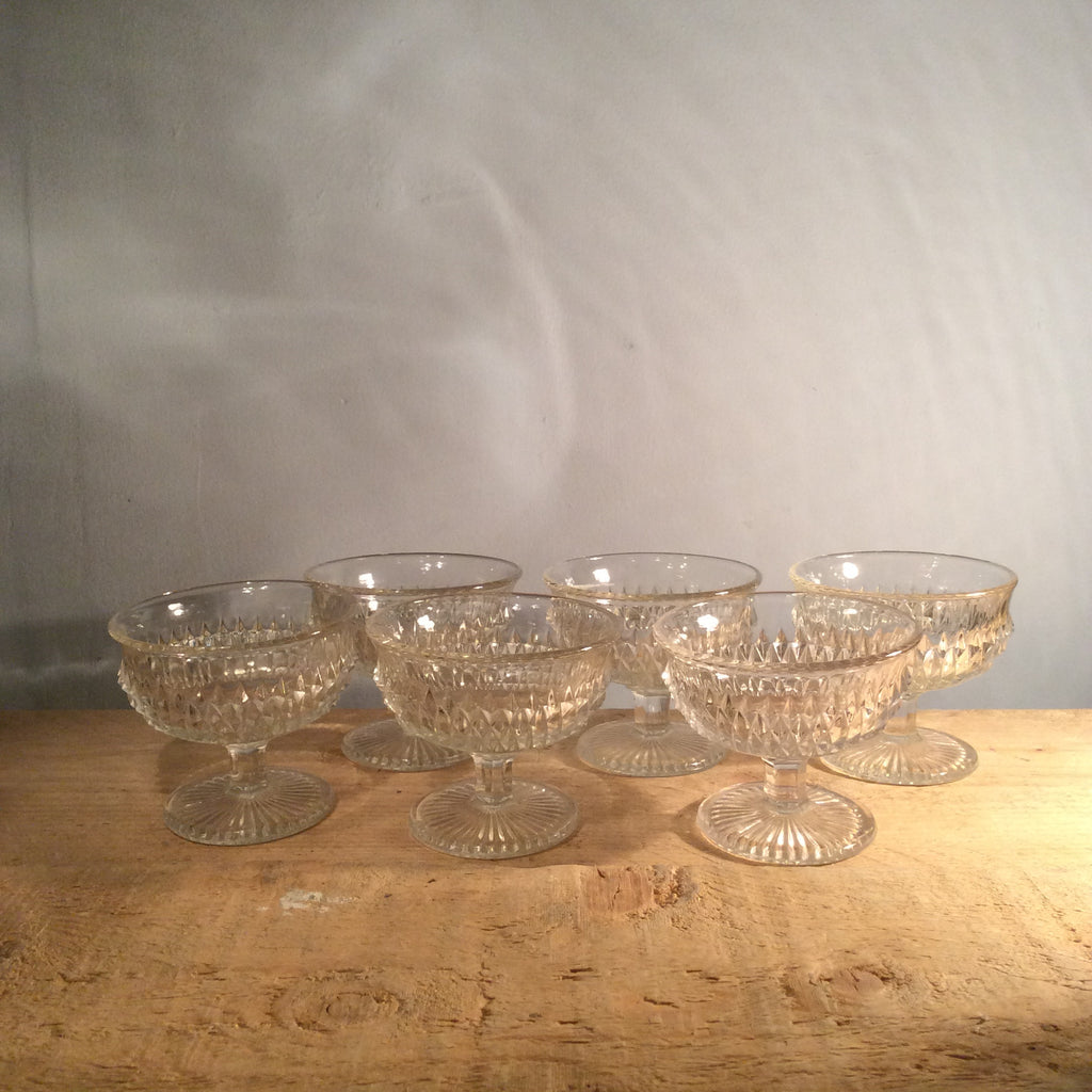 Vintage Crystal Bowl Set - 7 Pieces