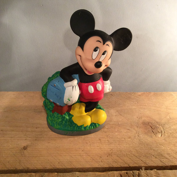 Vintage Disney Piggy Bank - Mickey Mouse